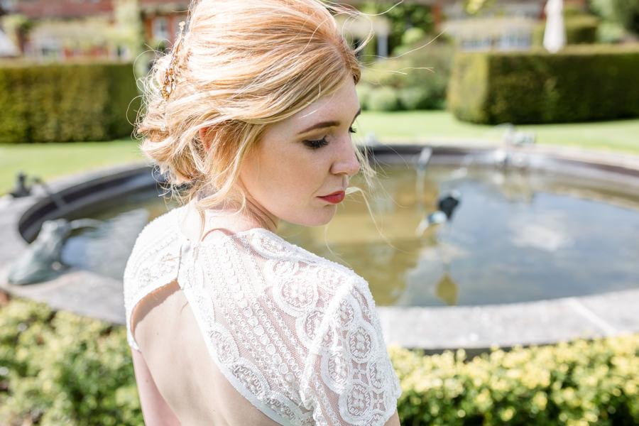 Boho luxe wedding style with soft orange and muted tones at Chippenham, image credit Heather Jackson Photography (30)