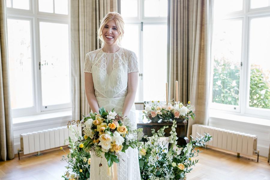 Boho luxe wedding style with soft orange and muted tones at Chippenham, image credit Heather Jackson Photography (33)