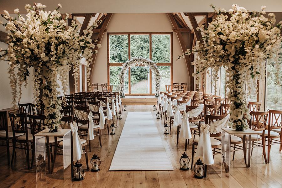 Laura & Dan's beautifully elegant wedding at Mill Barns Alveley, image credit Stott Weddings (2)