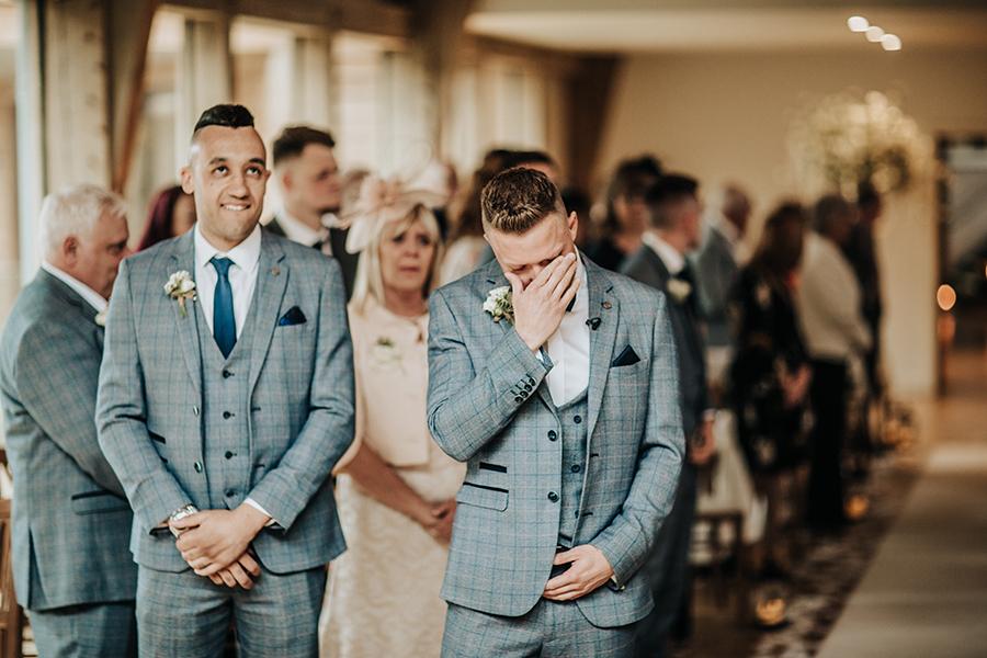 Laura & Dan's beautifully elegant wedding at Mill Barns Alveley, image credit Stott Weddings (9)