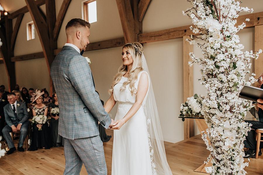 Laura & Dan's beautifully elegant wedding at Mill Barns Alveley, image credit Stott Weddings (12)