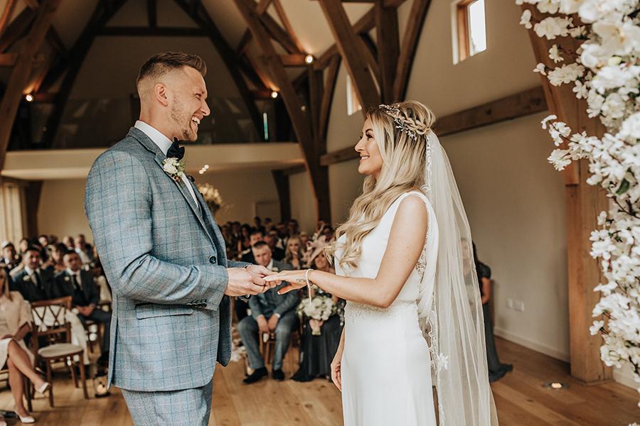 Laura & Dan's beautifully elegant wedding at Mill Barns Alveley, image credit Stott Weddings (13)
