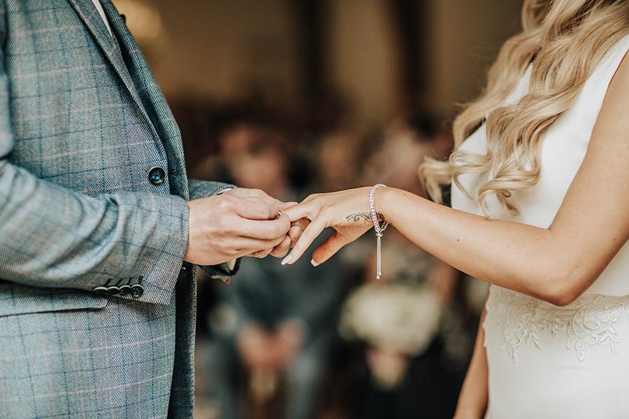 Laura & Dan's beautifully elegant wedding at Mill Barns Alveley, image credit Stott Weddings (14)