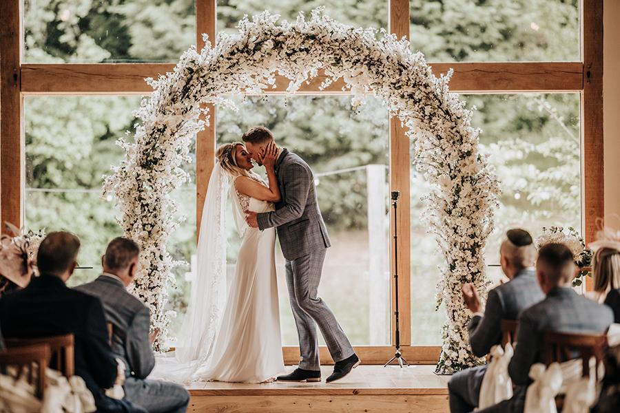 Laura & Dan's beautifully elegant wedding at Mill Barns Alveley, image credit Stott Weddings (15)