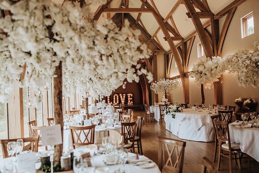 Laura & Dan's beautifully elegant wedding at Mill Barns Alveley, image credit Stott Weddings (18)
