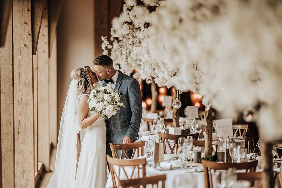 Laura & Dan's beautifully elegant wedding at Mill Barns Alveley, image credit Stott Weddings (26)