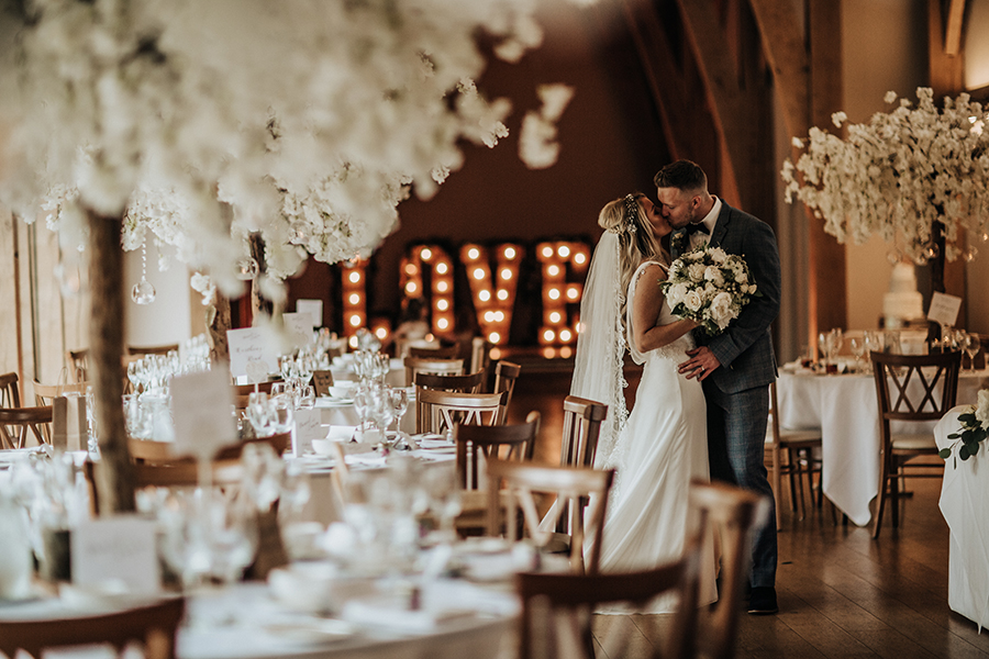 Laura & Dan's beautifully elegant wedding at Mill Barns Alveley, image credit Stott Weddings (27)