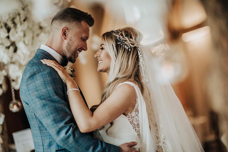 Laura & Dan's beautifully elegant wedding at Mill Barns Alveley, image credit Stott Weddings (29)