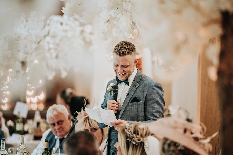 Laura & Dan's beautifully elegant wedding at Mill Barns Alveley, image credit Stott Weddings (31)
