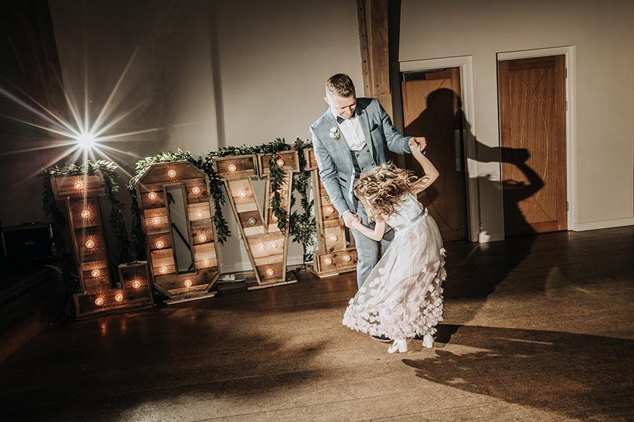 Laura & Dan's beautifully elegant wedding at Mill Barns Alveley, image credit Stott Weddings (37)