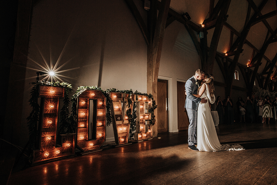 Laura & Dan's beautifully elegant wedding at Mill Barns Alveley, image credit Stott Weddings (38)