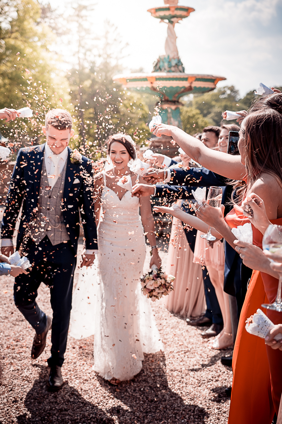 Real wedding at Chateau Impney classic glamorous style, Nicholas Rogers Photography (30)