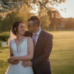 Stacey and Alex's blush wedding at Ardington House, with Benjamin Wetherall Photography