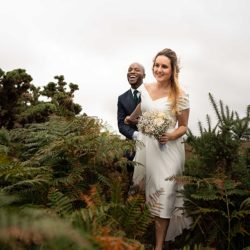 Jade and Gboyega's romantic seaside wedding in Dorset, with Linus Moran Photography