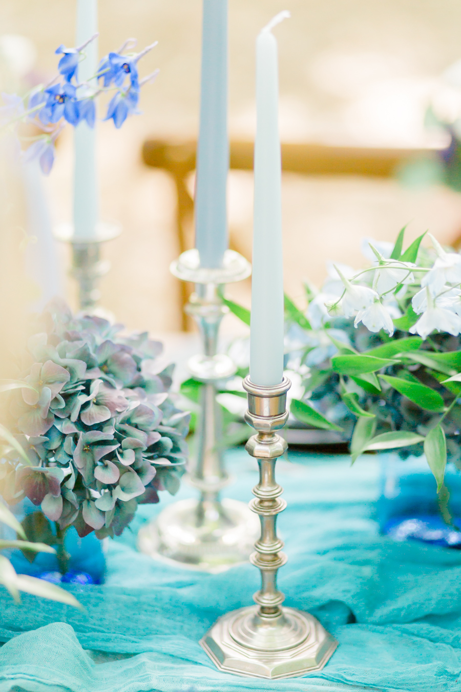 Beautiful and delicate blue tones for a woodland wedding styled by Sara's Events Flowers. Photo credit Natalie Stevenson Photography (23)
