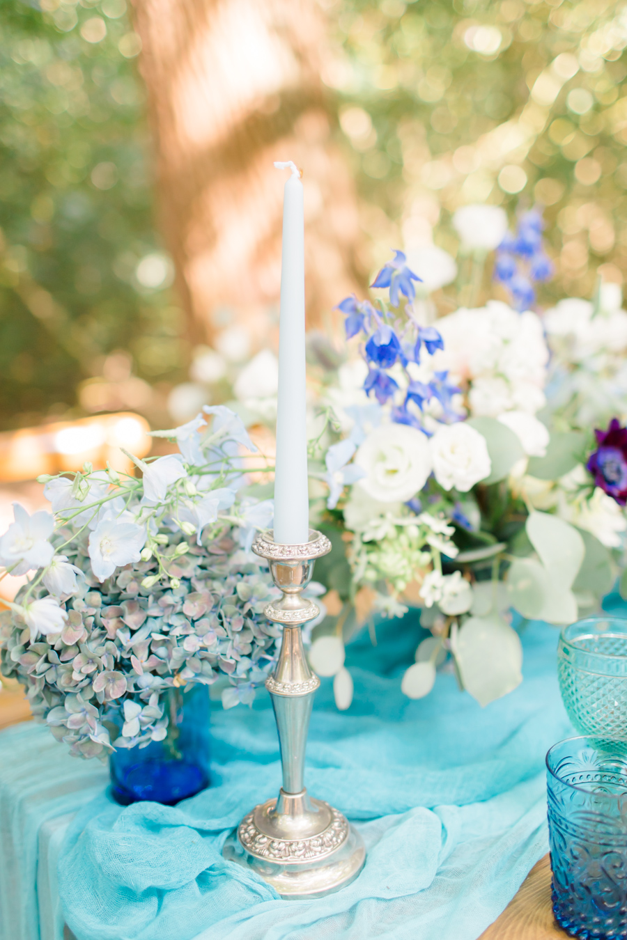 Beautiful and delicate blue tones for a woodland wedding styled by Sara's Events Flowers. Photo credit Natalie Stevenson Photography (6)