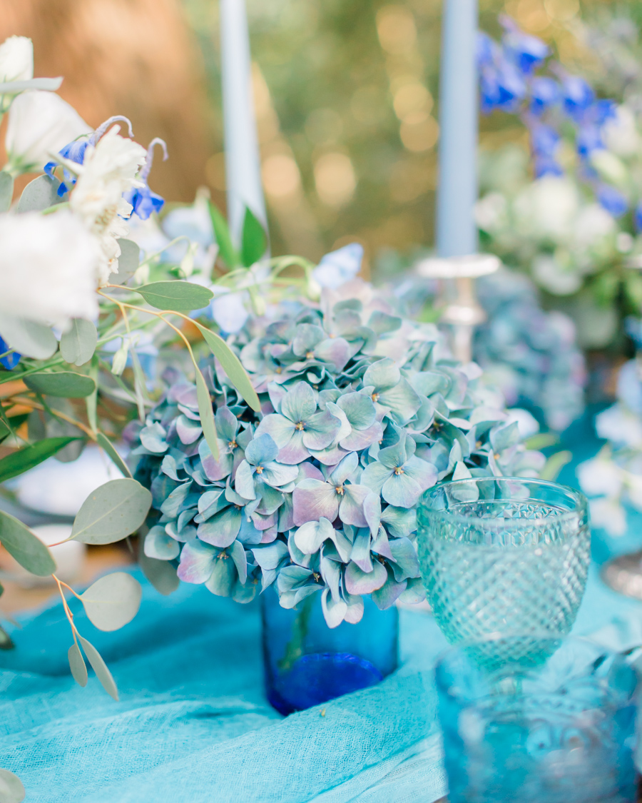 Beautiful and delicate blue tones for a woodland wedding styled by Sara's Events Flowers. Photo credit Natalie Stevenson Photography (15)