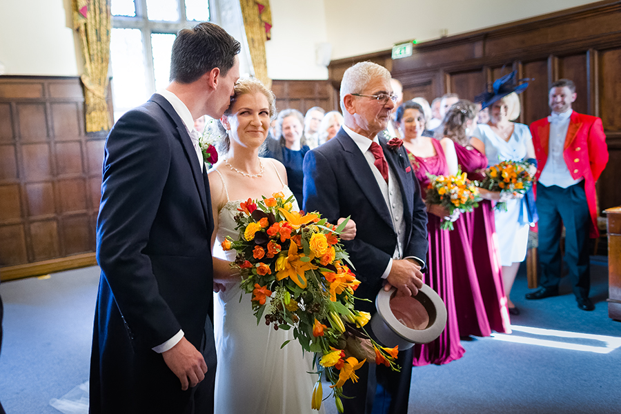 Sophie and Chris's classic autumn wedding in Kent, images by Terence Joseph Photography (9)