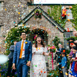 Nailing the confetti moment! 20 brilliant tips with photos
