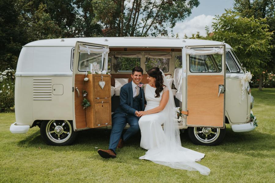 Danielle and Gareth's boho wedding at High House Essex