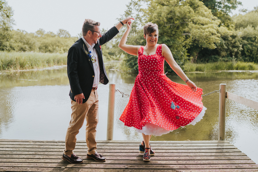 Hannah and Anthony's retro wedding at Thorpeness Golf Club Suffolk