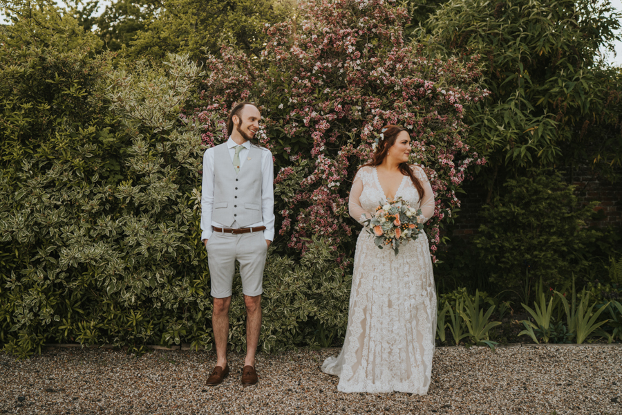 Hayley and Sam's vintage boho wedding at The Secret Garden Kent