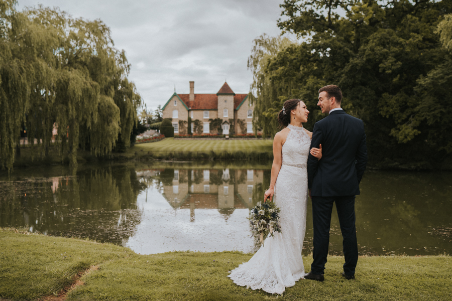 Jane and Patrick's rainy wedding at Smeetham Hall Barn Suffolk