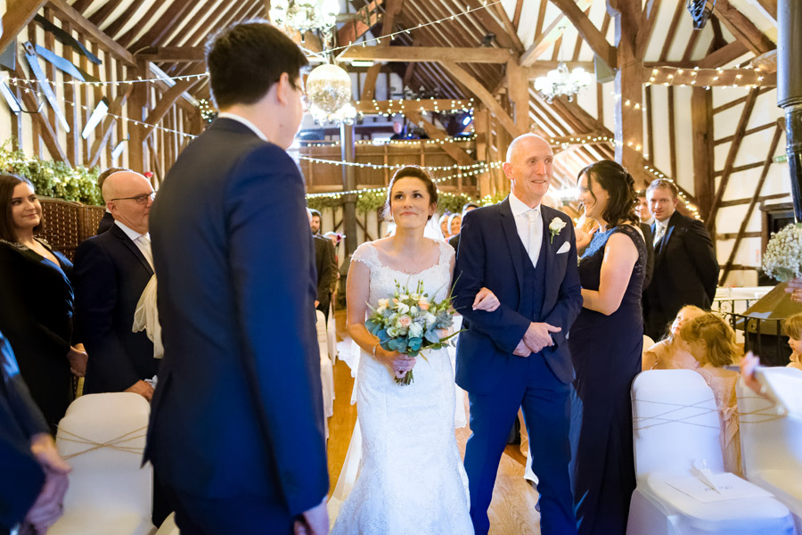 Hannah and Tom's November wedding at The Plough at Leigh with Terence Joseph Photography (11)