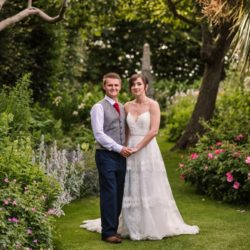 Carley and Dan's beautifully sunflower-filled wedding at Parley Manor, with Rachel Elizabeth Photography