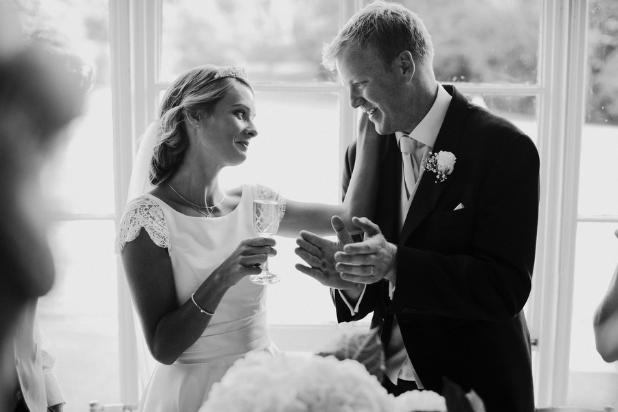 Saskia and Fred's wedding speeches at Nonsuch Mansion by Richard Skins Photography