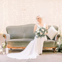 A breathtaking barn wedding transformation in delicate blues and golds