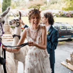 Llama surprises and beautiful heritage surroundings for Morag & Danny's Ashdown Park wedding, images by Damion Mower Photography