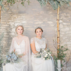 A beautiful, grown up take on 'Frozen' for the elegant, winter bride