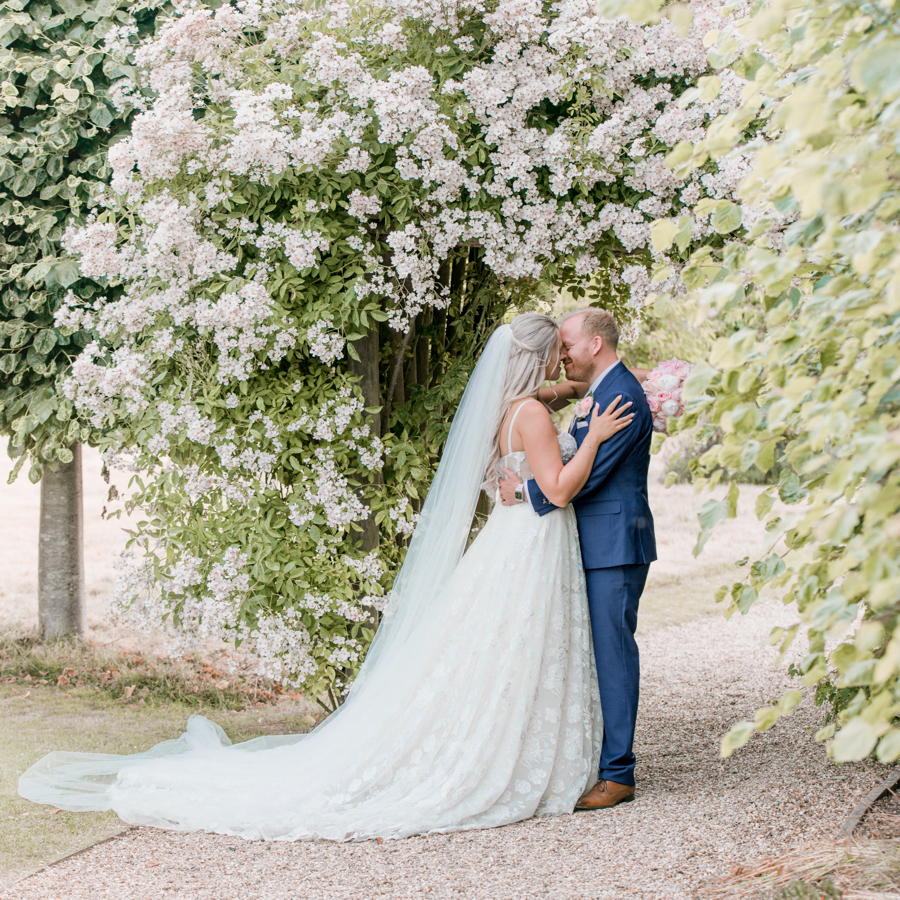Real wedding at Chippenham Park captured by Rebekah Robert Photography