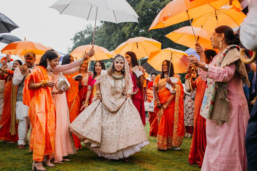 Real Hindu British fusion wedding at Whitmore Hall captured by John Hope Photography