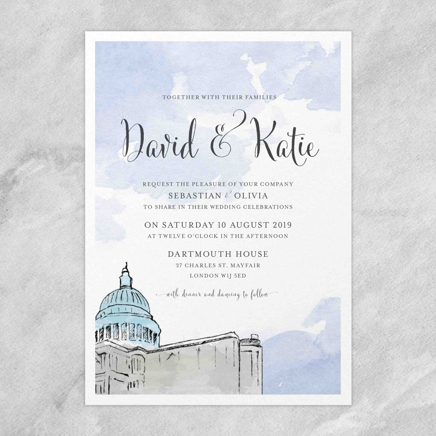 Illustrated wedding invitations by Love Invited UK (3)