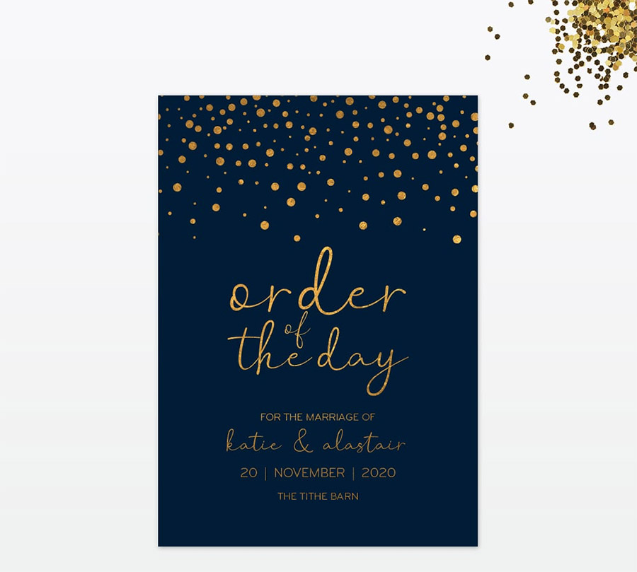 Winter confetti wedding stationery by Love Invited (2)