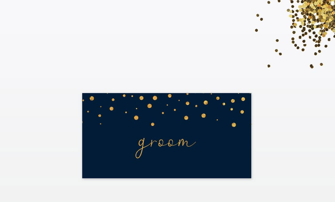 Winter confetti wedding stationery by Love Invited (3)