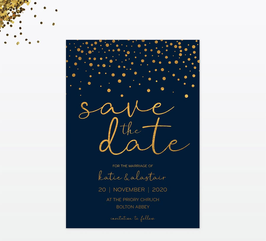 Winter confetti wedding stationery by Love Invited (4)