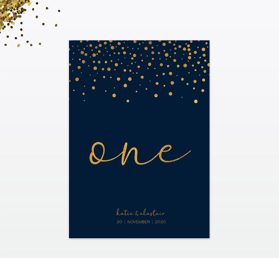 Winter confetti wedding stationery by Love Invited (5)