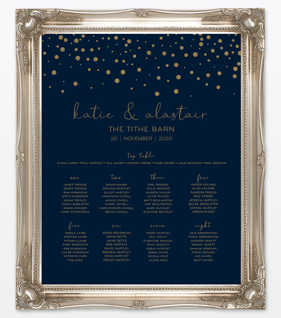 Winter confetti wedding stationery by Love Invited (6)