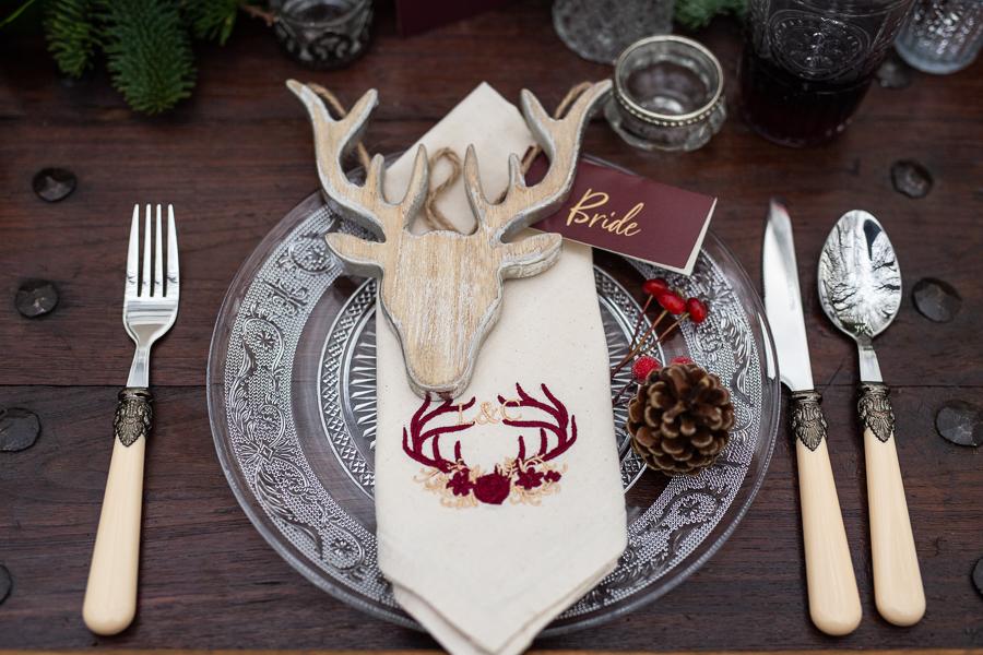 Winter woodland wedding styling ideas, image credit Photography by Chantel (3)