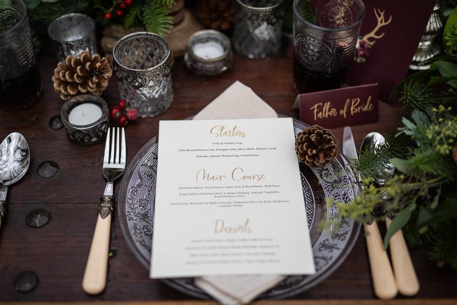 Winter woodland wedding styling ideas, image credit Photography by Chantel (5)