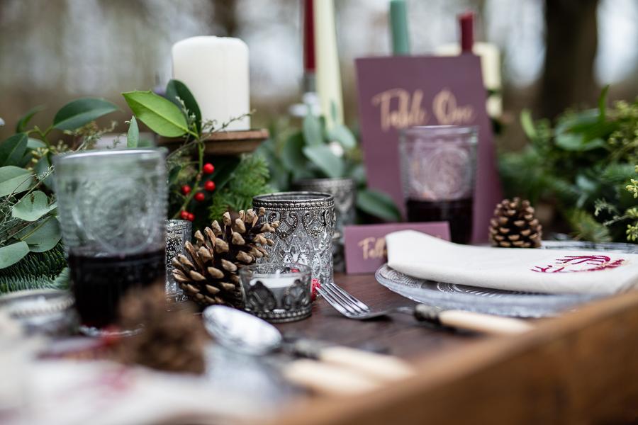 Winter woodland wedding styling ideas, image credit Photography by Chantel (6)