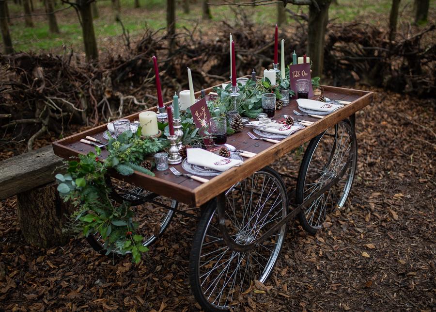 Winter woodland wedding styling ideas, image credit Photography by Chantel (7)