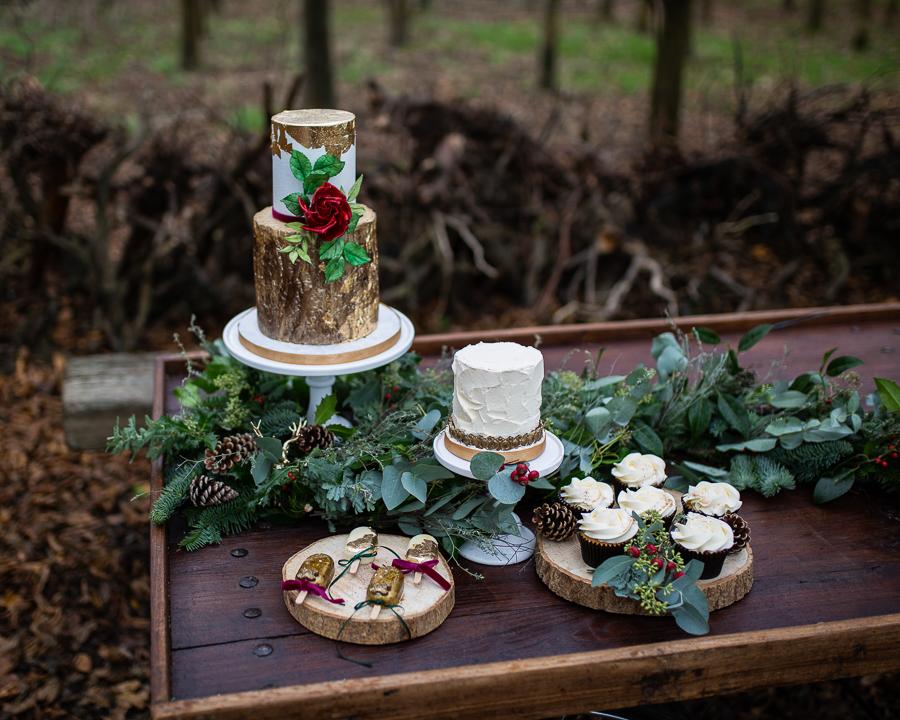 Winter woodland wedding styling ideas, image credit Photography by Chantel (12)