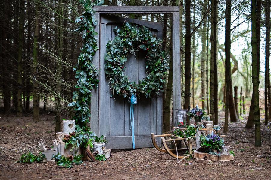 Winter woodland wedding styling ideas, image credit Photography by Chantel (13)