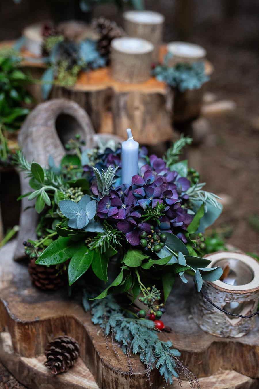 Winter woodland wedding styling ideas, image credit Photography by Chantel (14)