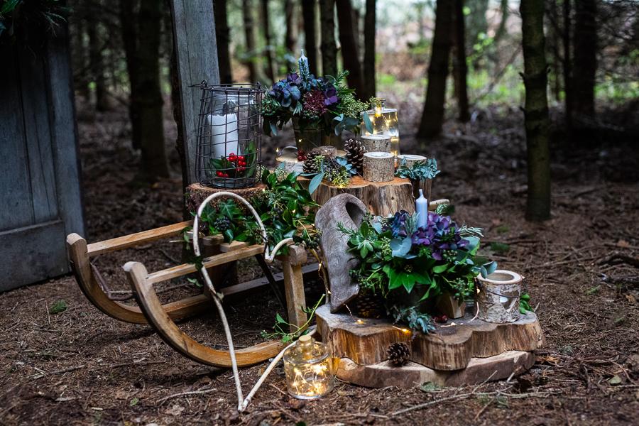 Winter woodland wedding styling ideas, image credit Photography by Chantel (17)