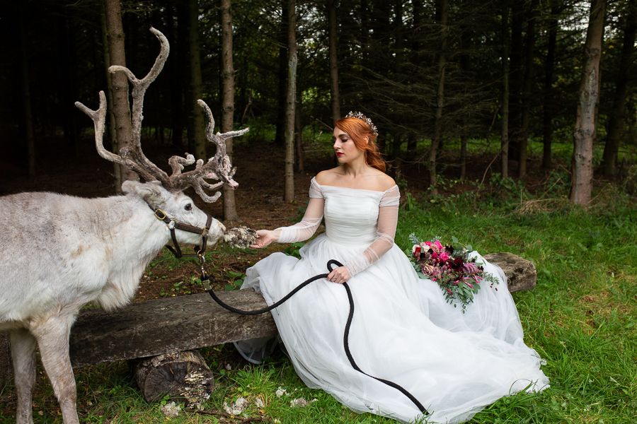 Winter woodland wedding styling ideas, image credit Photography by Chantel (18)